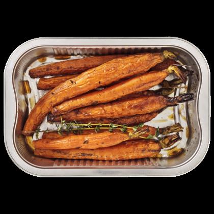 Huismerk Geroosterde wortel met honing en tijm