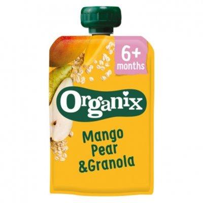 Organix Knijpfruit mango, peer & granola 6-36m