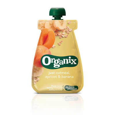Organix Just oatmeal abrikoos en banaan