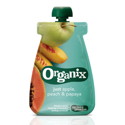 Organix Just apple peach papaya