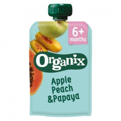 Organix Knijpfruit appel, perzik & papaya 6-36m
