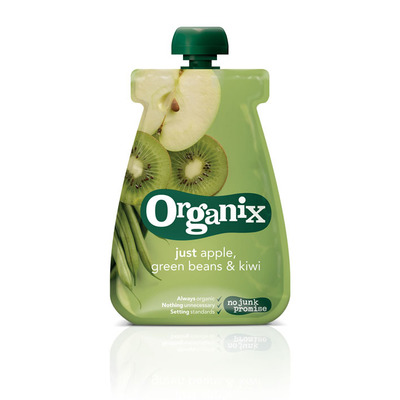 Organix Just apple green beans en kiwi