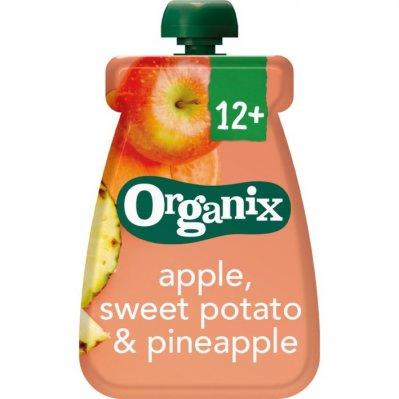 Organix Knijpfruit appel zoete aard&ananas 6-36m