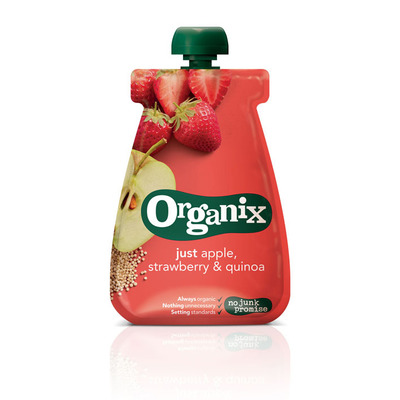 Organix Just apple strawberry quinoa