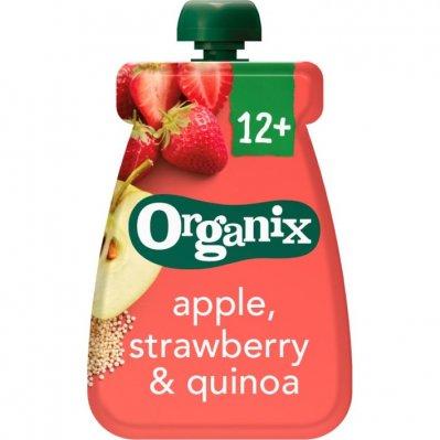 Organix Knijpfruit appel aardbei & quinoa 6-36m