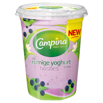 Campina Romige yoghurt bosbes
