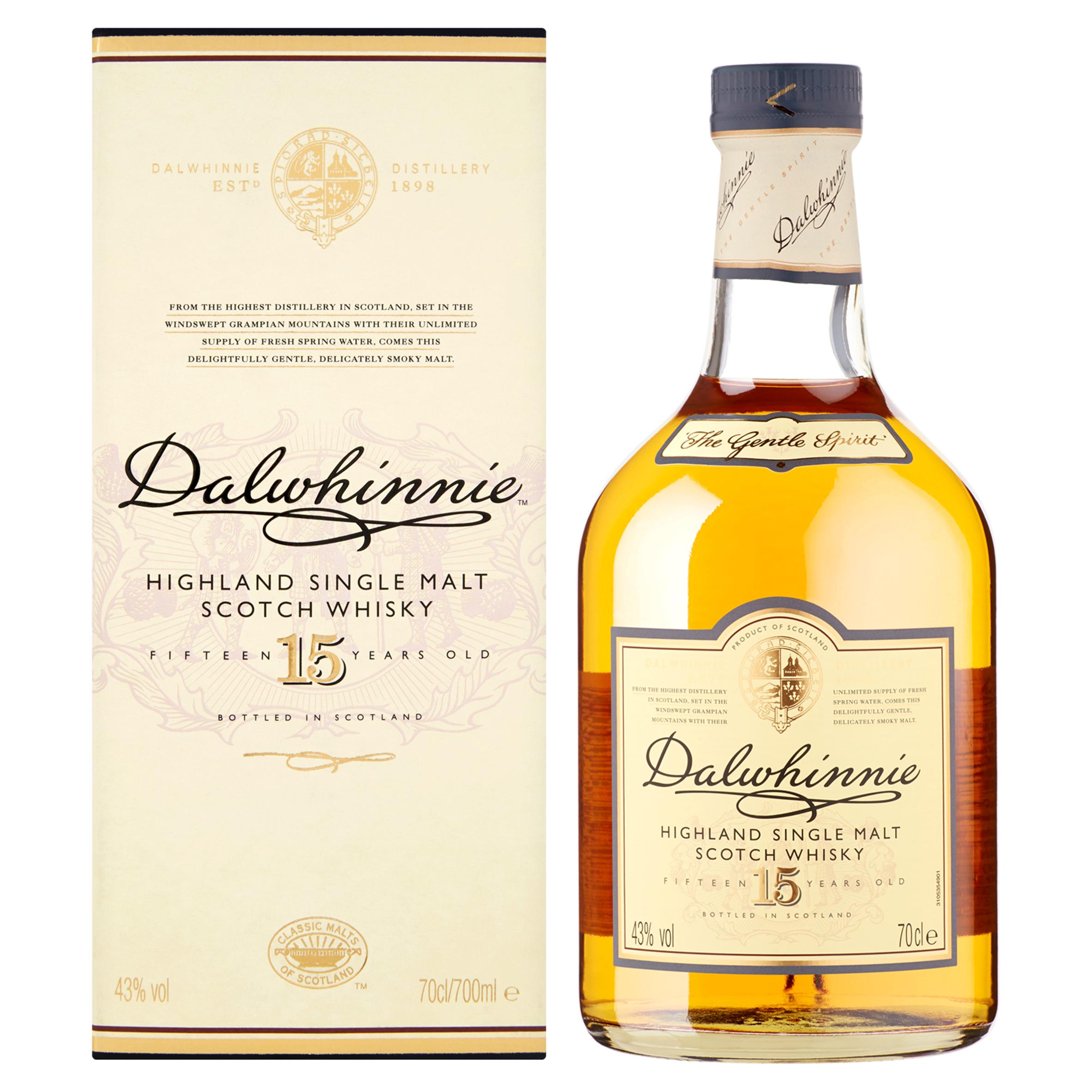 Dalwhinnie 15 Years Highland Single Malt Scotch Whisky 70 cl