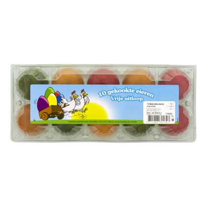Van Beek Vrije uitloopeieren gekleurd & gekookt