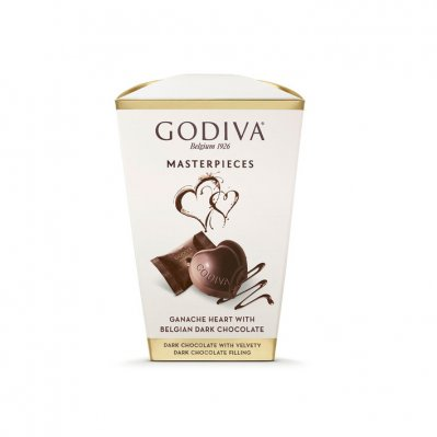 Godiva Masterpieces box dark ganache heart