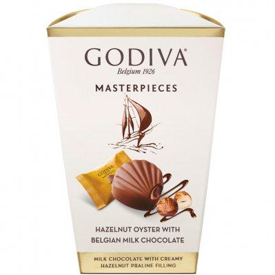 Godiva Masterpieces box milk hazelnut oyster
