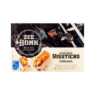 Zeebonk Extra Grote Vissticks Volkoren 6 Stuks