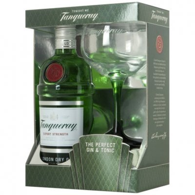 Tanqueray London Dry Gin met glas