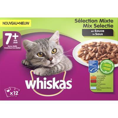 Whiskas Mp senior vlees&vis selectie in saus