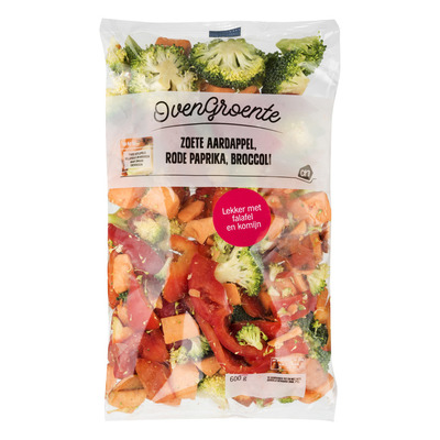 Huismerk Ovengroente aardap paprika en broccoli