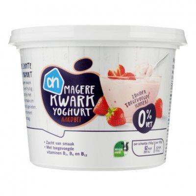 Huismerk Aardbeienkwark 0% vet