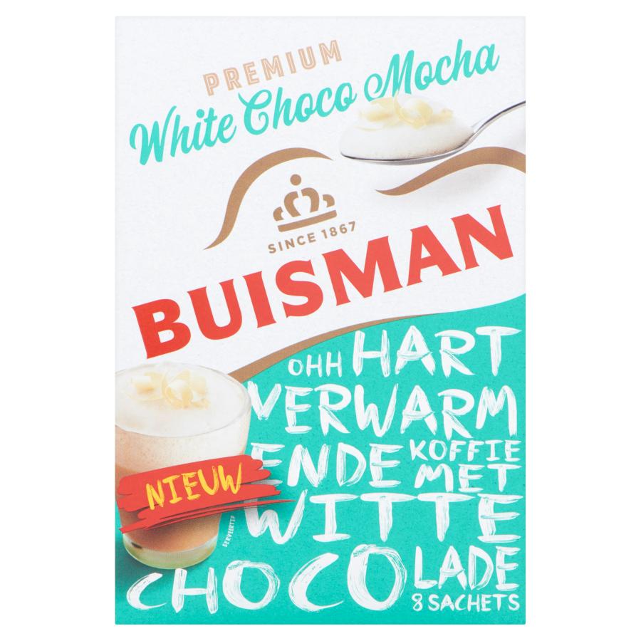 Buisman Premium White Choco Mocha 8 Sachets