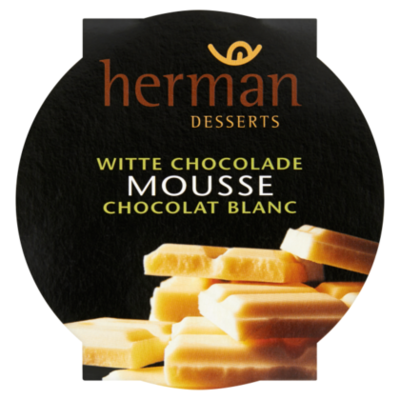 Herman desserts Mousse witte chocolade