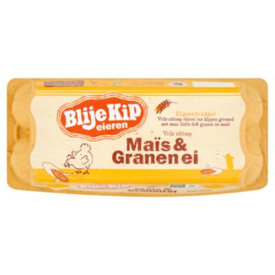 Blije Kip Vrije uitloopeieren mais & granen ei