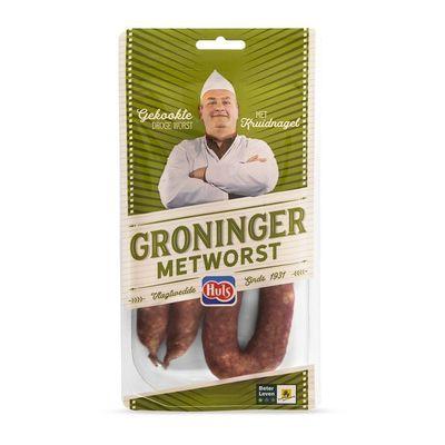 Huls Gekookte Groninger metworst