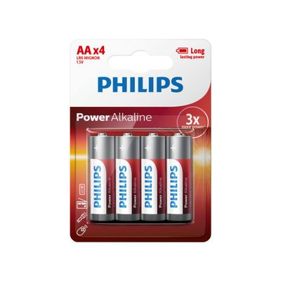 Philips Power Alkaline Aa/lr6 Blister 4