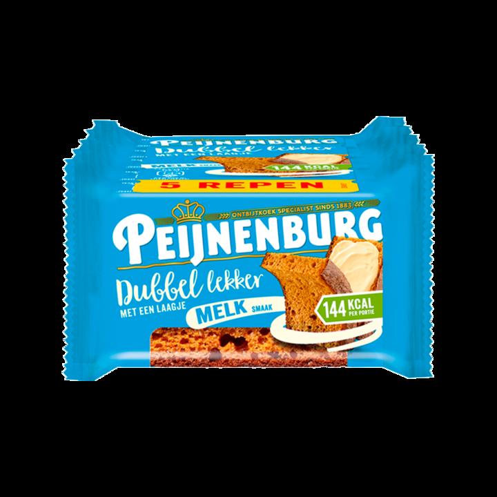Peijnenburg Ontbijtkoek Dubbel Lekker Melk 5 Repen