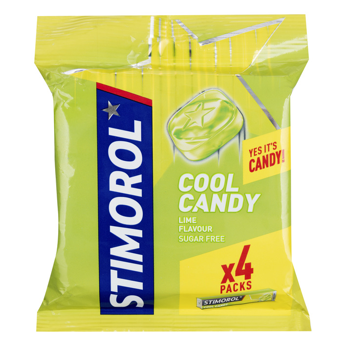 Stimorol Cool candy lime 4-pack