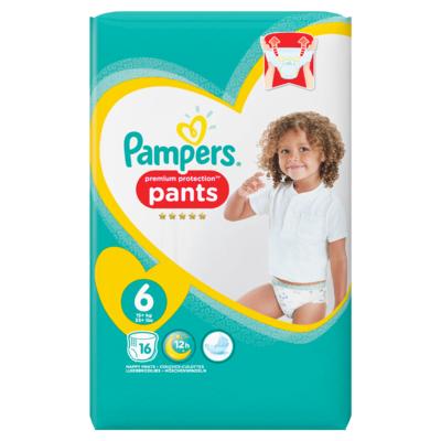 Pampers Premium Protection Pants S6, 16 Luierbroekjes, Zacht