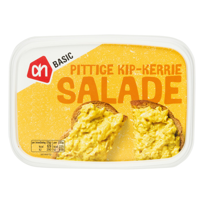 Budget Huismerk Pittige kip kerrie salade