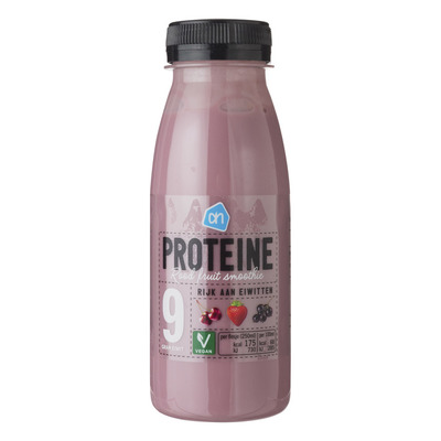 Huismerk Smoothie proteine rood fruit