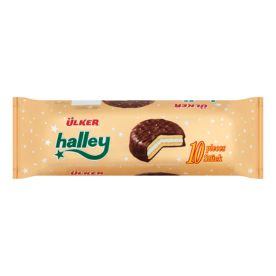 Ülker Halley Sandwich Biscuit Filled with Marshmallow