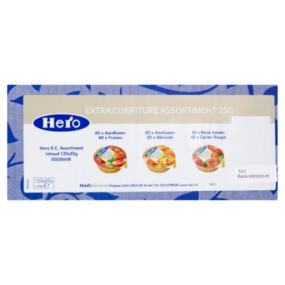 Hero Extra Confiture Assortiment 120 x 25 g