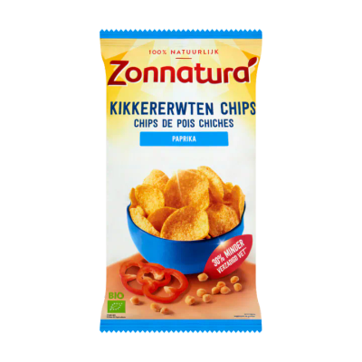 Zonnatura Kikkererwten Chips Paprika