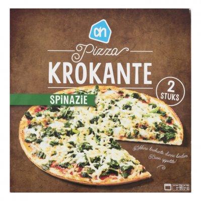 Huismerk Krokante pizza spinazie
