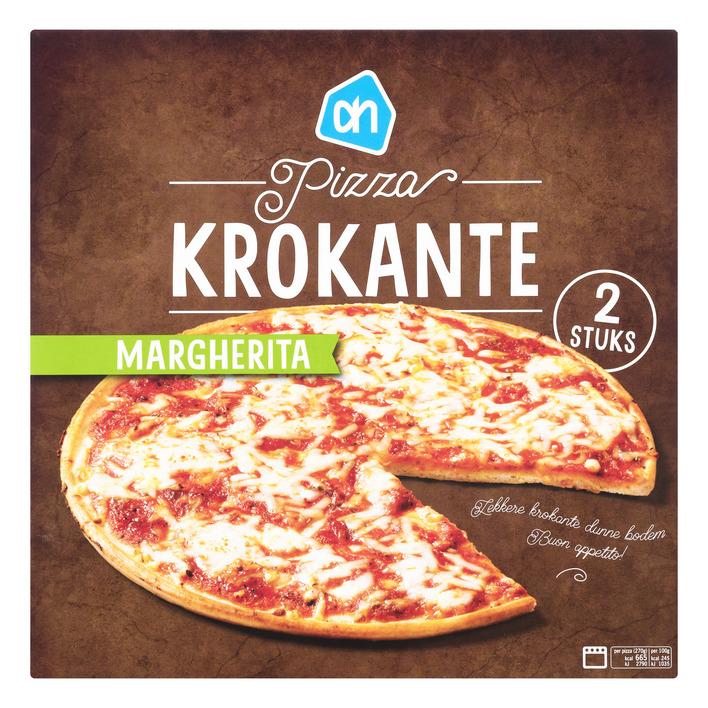 Huismerk Krokante pizza Margherita