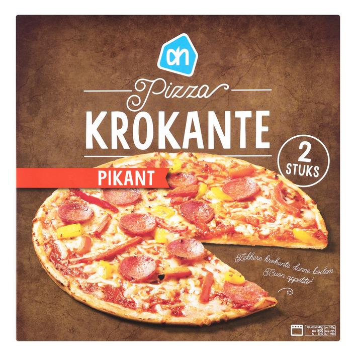 Huismerk Krokante pizza pikant
