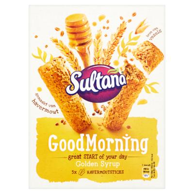 Sultana GoodMorning Golden Syrup 5 x 2 Stuks