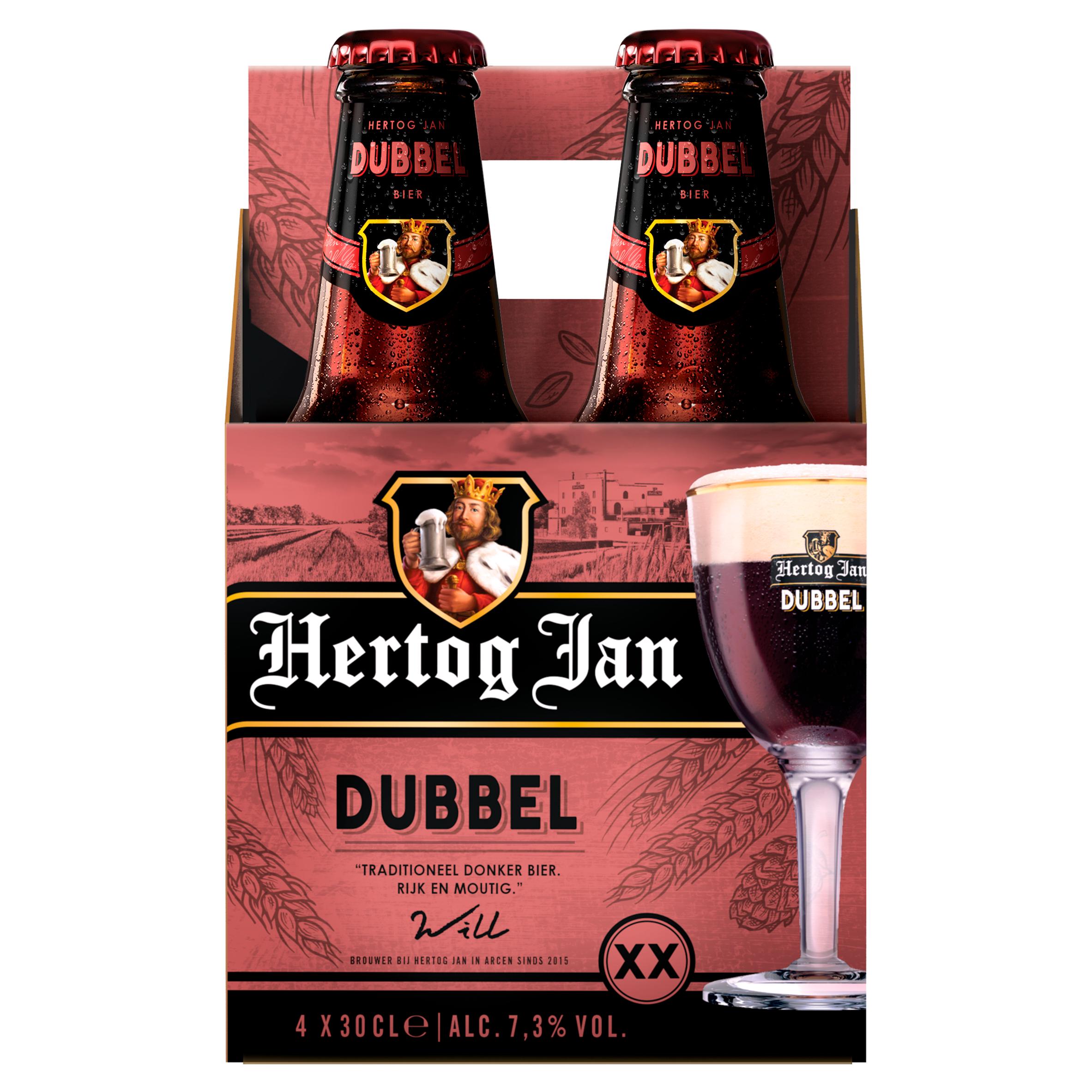 Hertog Jan Dubbel Bier Flessen 4 x 30 cl