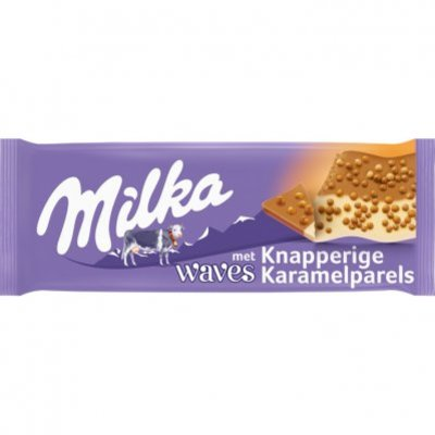 Milka Waves met stukjes karamel