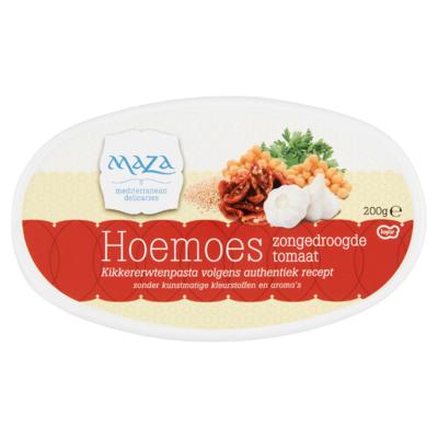 Maza Hoemoes less salt tomaat/bascilicum