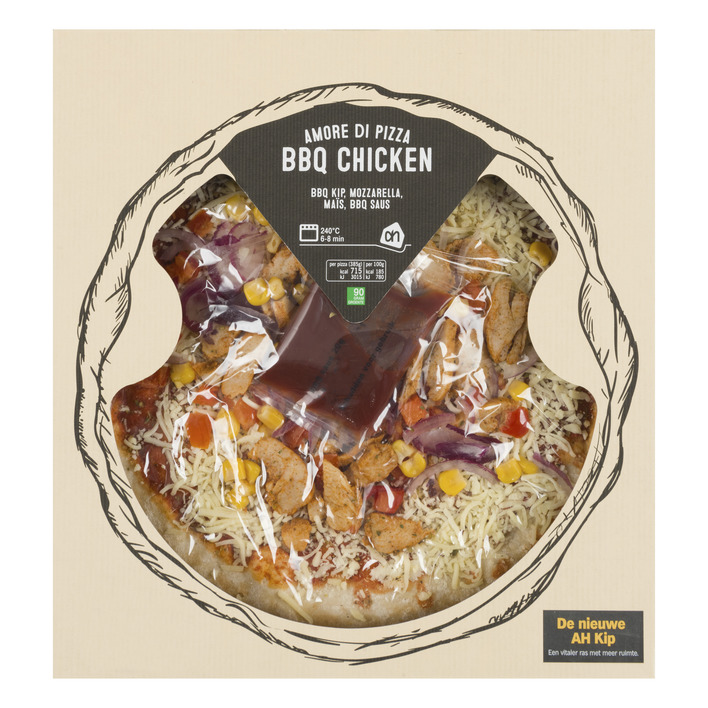 Huismerk Pizza bbq chicken
