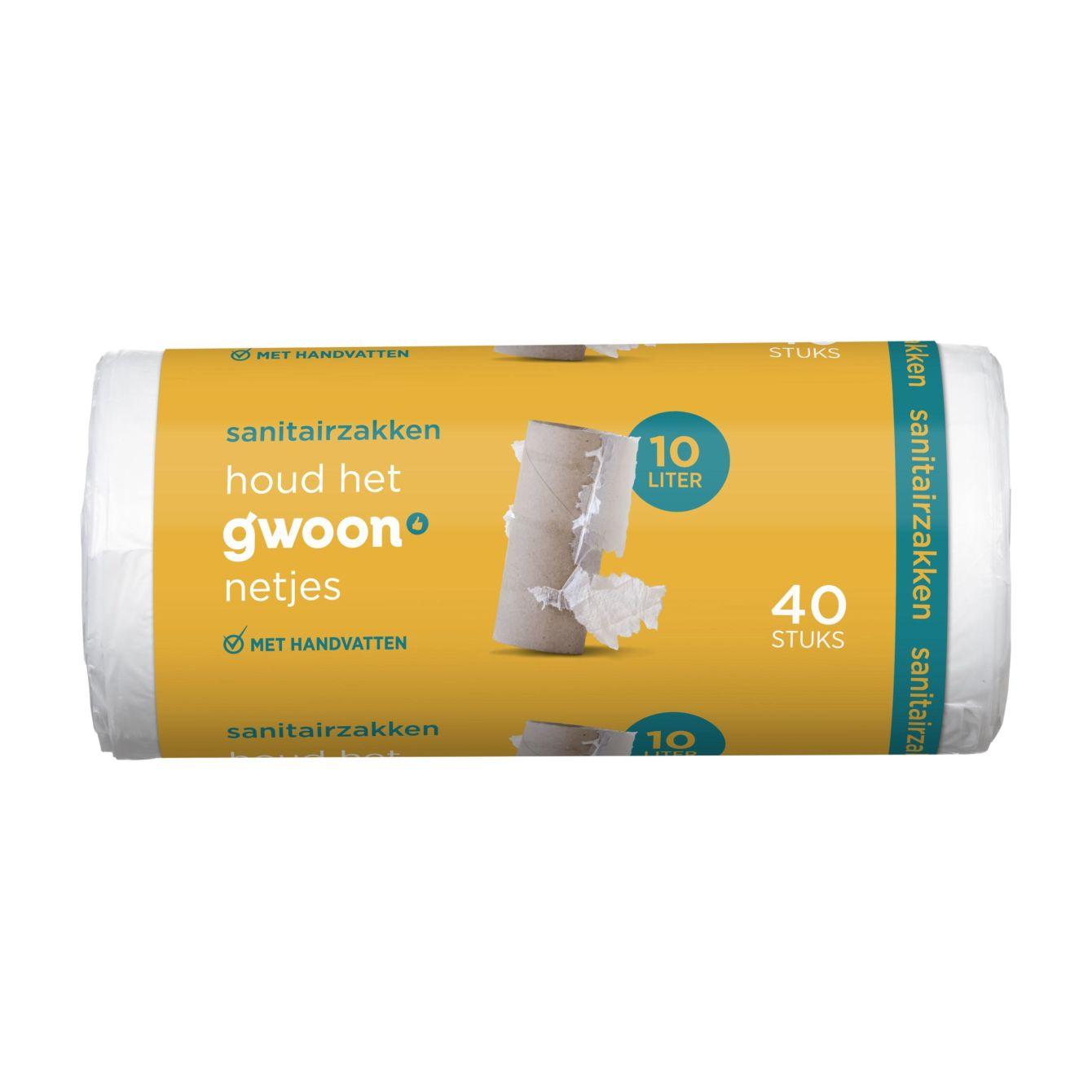 G'woon Sanitairzakken 10 Liter