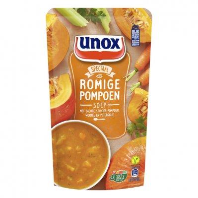 Unox Soep in zak pompoensoep