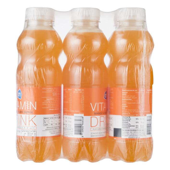 Huismerk Vitamin drink mango guave 6pack