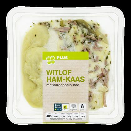 Huismerk Witlof ham en kaas met aardappelpuree