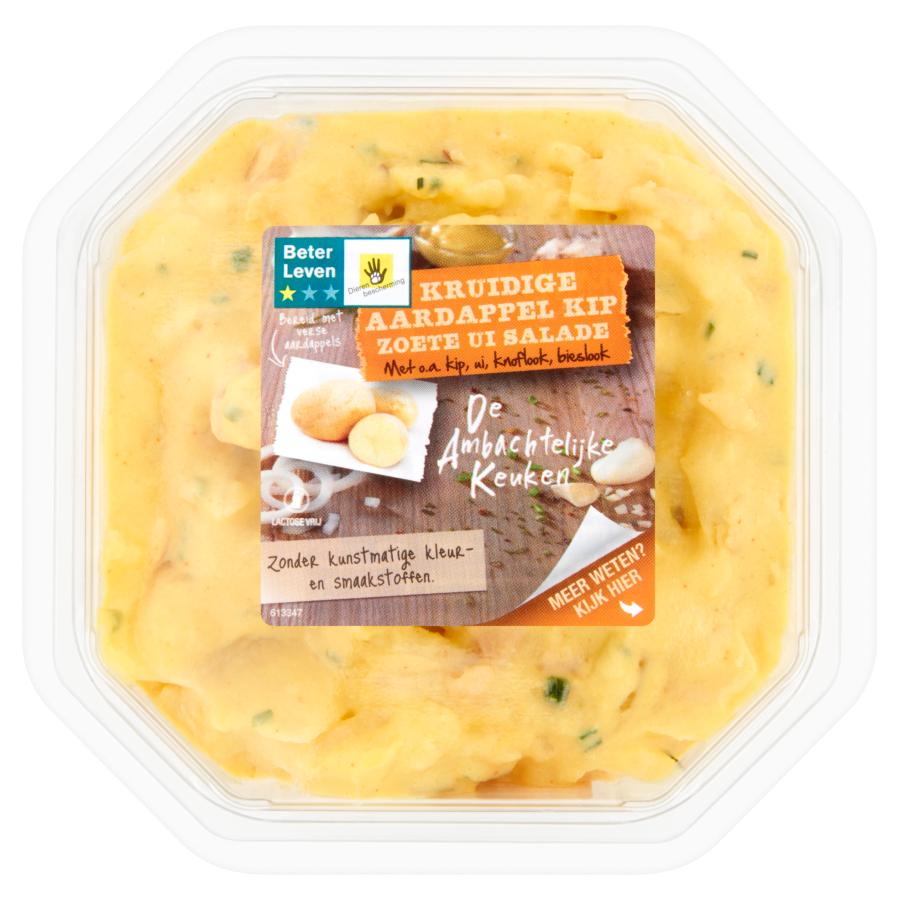 Ambachtelijke Keuken Aardappelsalade met kip en zoete ui