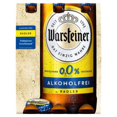 Warsteiner Alkoholfrei Radler Flesen 6 x 0,33 L