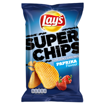 Lay's Superchips Aardappelchips Paprika Flavour 215g