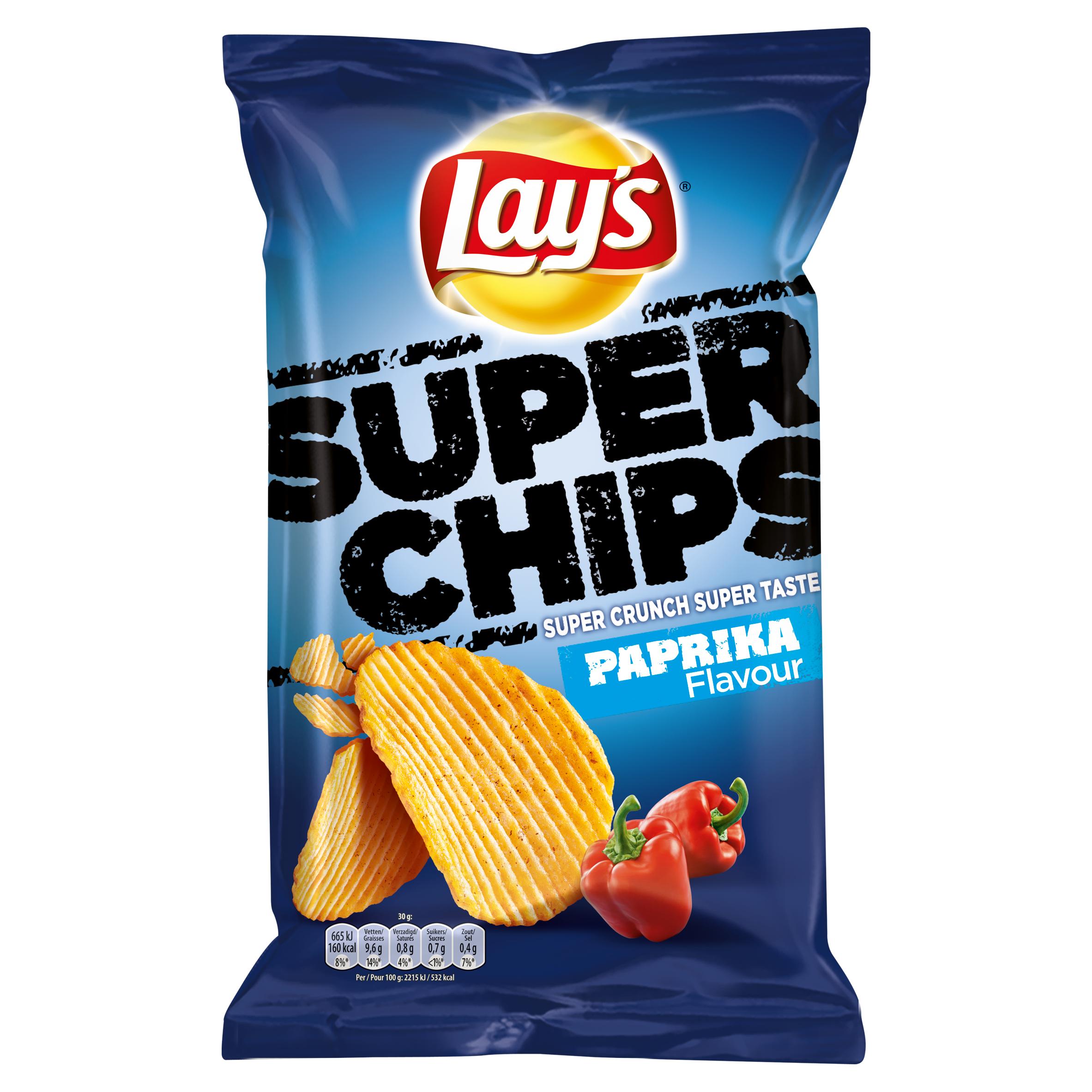 Lay's Superchips Aardappelchips Paprika Flavour 215g