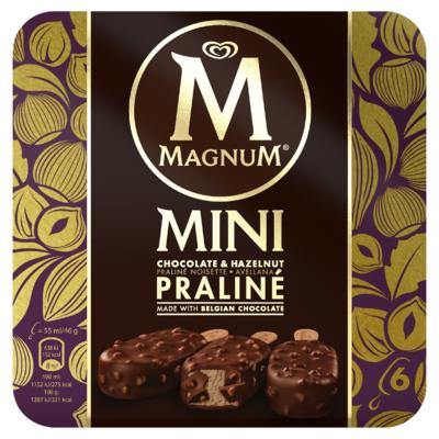 Magnum Mini Hazelnut Chocolate Praline 6 Stuks 330 ml