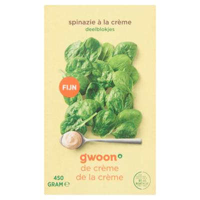 Huismerk Spinazie à la Crème Deelblokjes 450 g